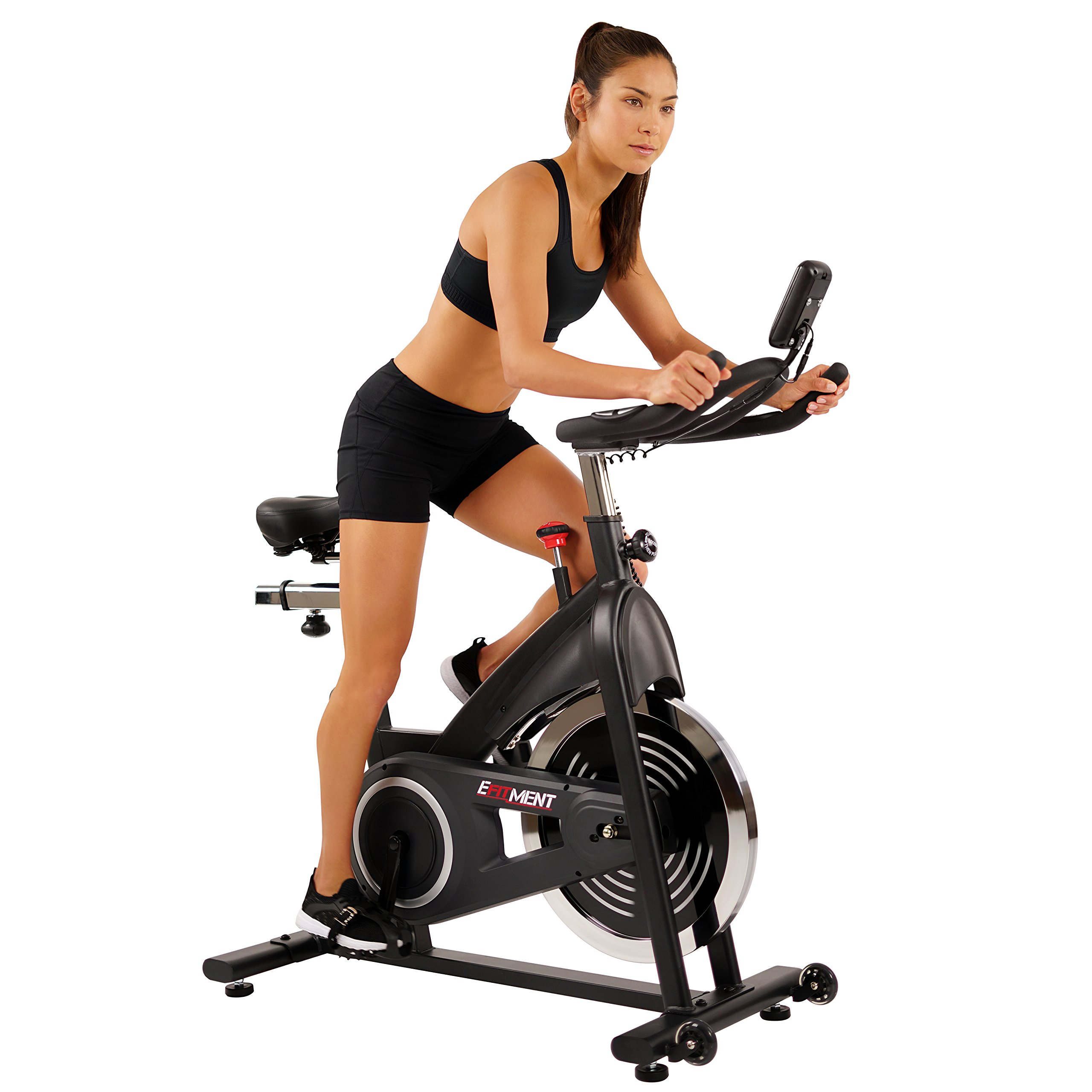 EFITMENT Indoor Cycle Bike, Belt Drive Cycling Trainer Exercise Bike IC014