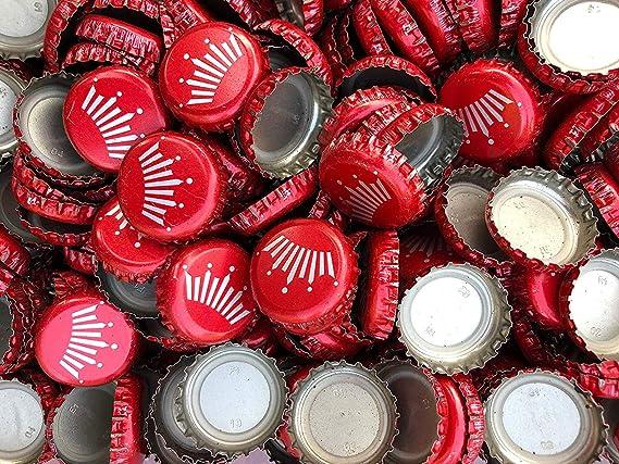 Decor* Clean Crafts 25 Budweiser Beer Bottle Crown Caps *DIY No Dents