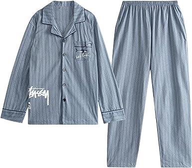 GOSO Pijama para niños de 9 10 11 12 13 14 15 años de cálido Invierno para Adolescentes,niños,Botones,Pijama de Manga Larga,Pijama de niños