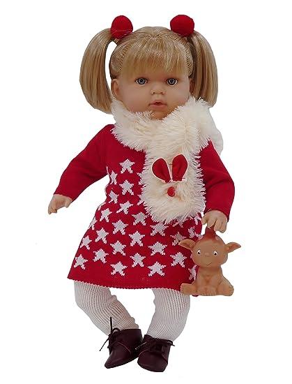 Muñeca Tita con duendecillo de regalo (R/1015), graciosa muñeca con dos coletas ideal para que los niños jueguen a peinarla y además tiene un bonito ...