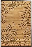 Oriental Furniture Tropical Leaf Bamboo Rug 5' x 8'