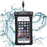 スマホ 防水ケース CHOETECH 携帯 防水袋 IPX8規格 浮輪機能付き iphone 7,7 Plus,6S,6S Plus,google pixel, Sony その他最大6インチスマホに対応(ブラック)