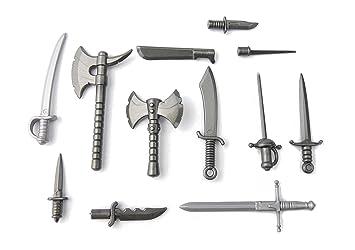 BrickArms Espada y Cuchillo Set de Armas Battlepack Custom Armas para Figuras de Lego®