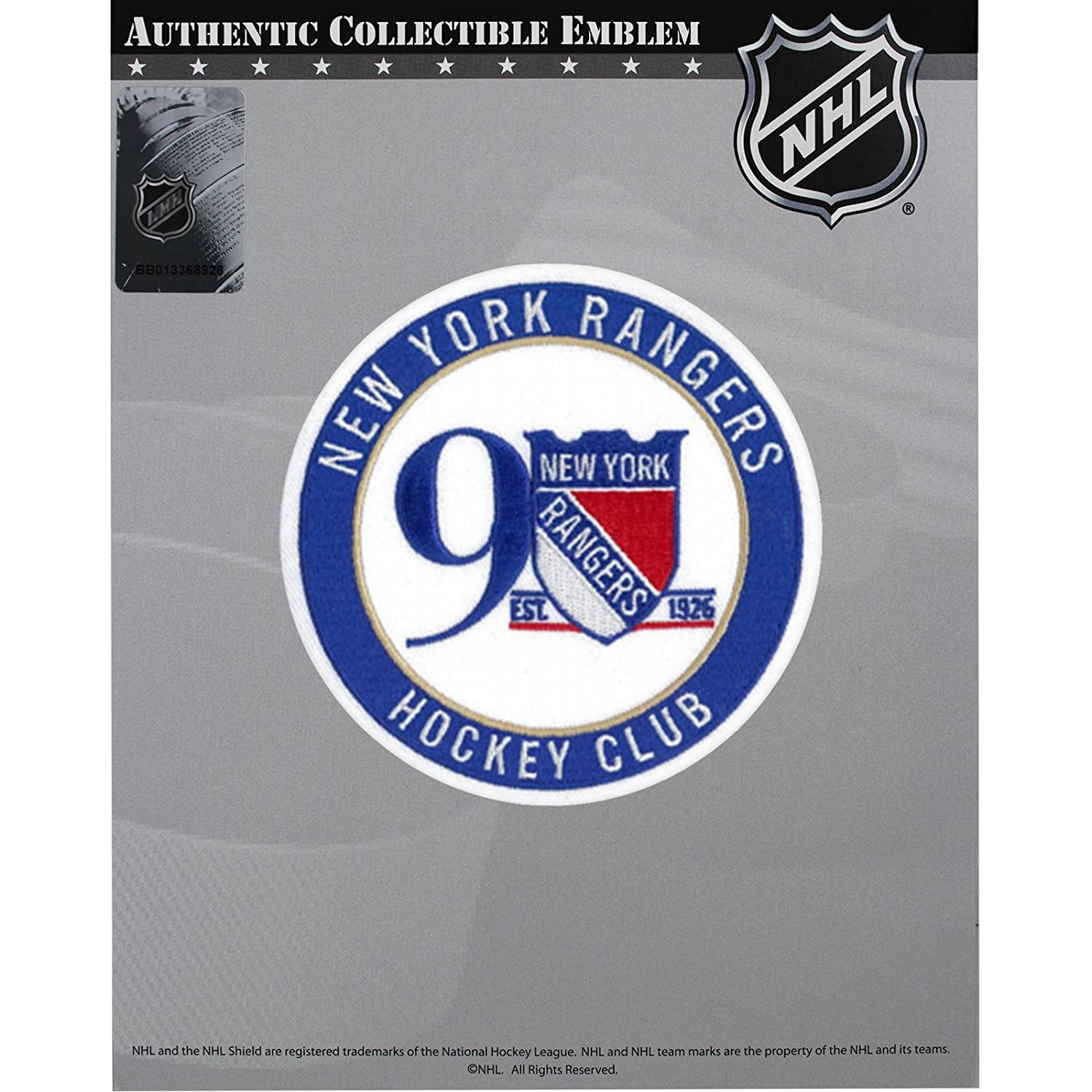 Amazon.com   2017 NHL New York Rangers 90th Anniversary Official Hockey  Game Jersey Patch   Sports   Outdoors d4d02e9a3