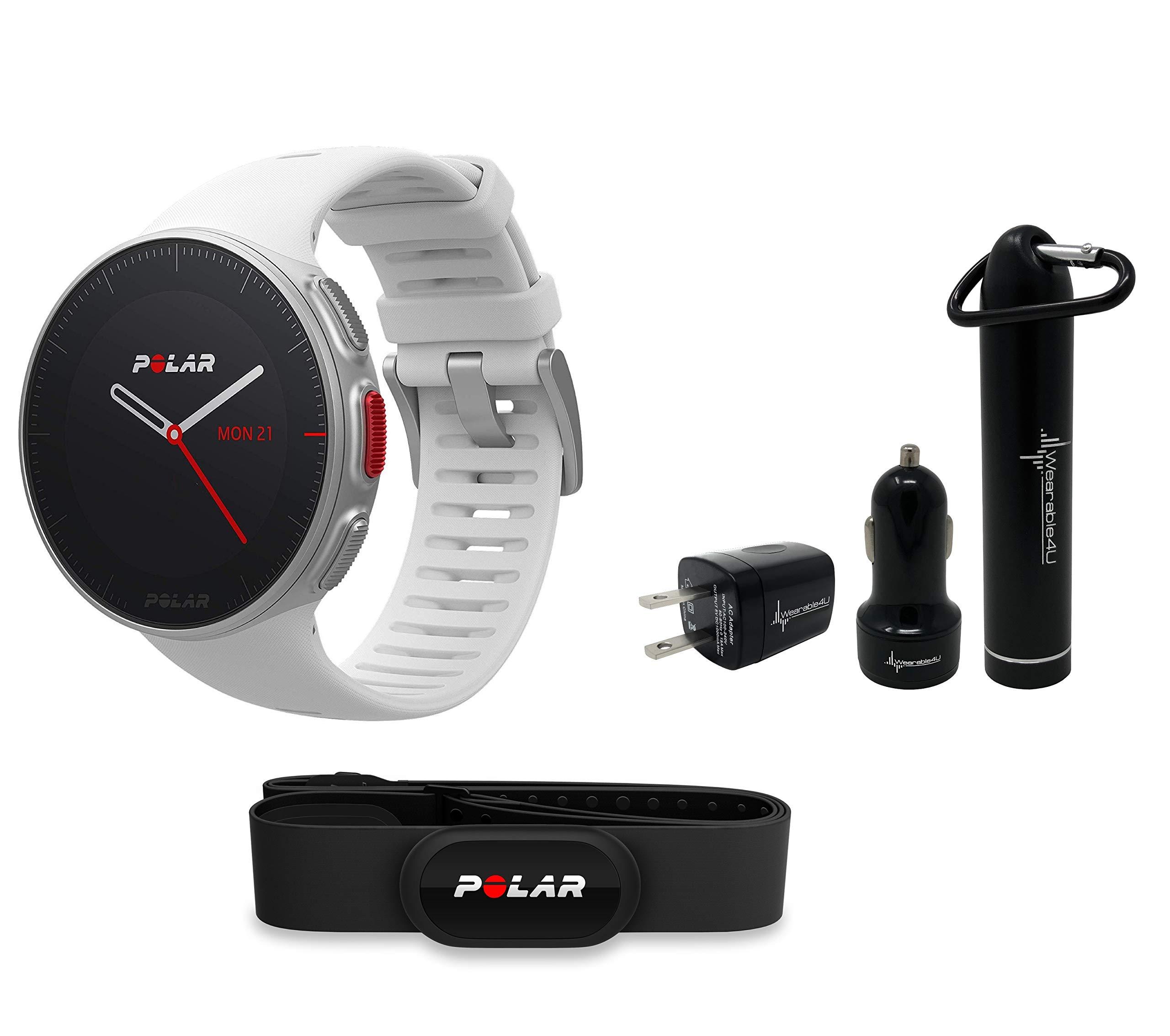 Polar Vantage V Pro Multisport GPS Watch and Wearable4U Ultimate Power Pack Bundle