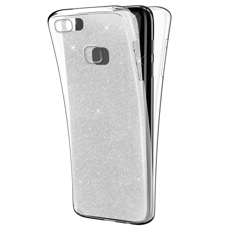 Ukayfe Custodia Huawei P9 Lite,360 Gradi Full Body Cover con Bling ...