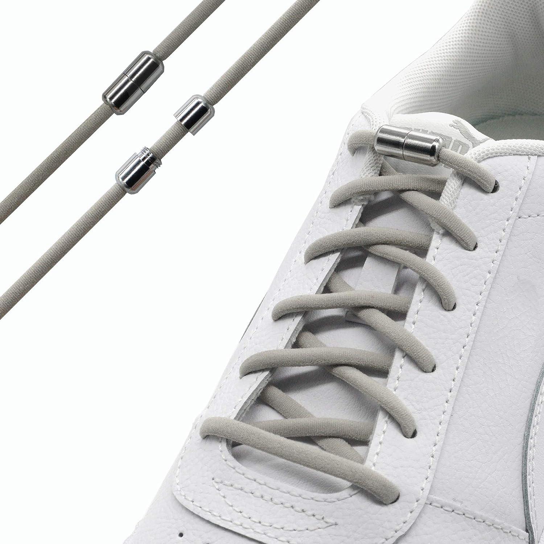 Run out sports Elastische Schn/ürsenkel mit Metallverschluss schleifenlos Schnellverschluss mit Metallkapsel elastisch ohne binden