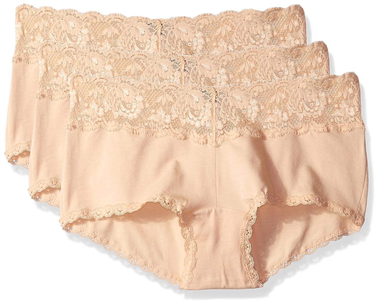 bluesh bluesh bluesh Cosabella Womens Never Say Never Cheekie Hotpant Plus Size 3 Pack Set Boy Shorts Panties