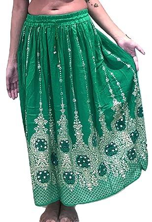 Falda larga de lentejuelas Dancers World Ltd de bonito diseño ... 72bf07f96713