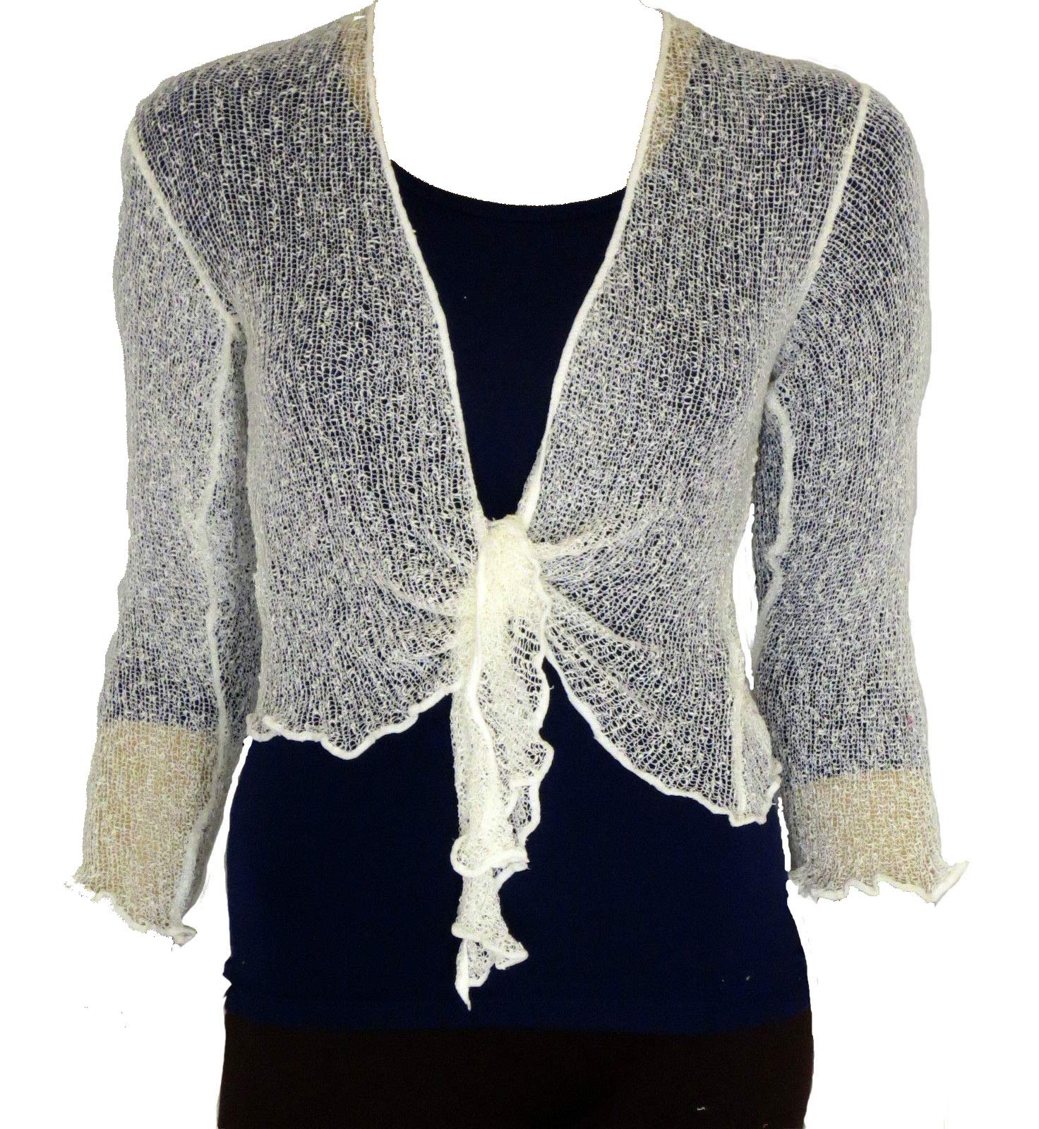 Taboo fashion clothing en Tricot Uni Court Tie Up Boléro Top – Massive  Gamme de Couleurs ab513e48b6e