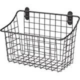 Spectrum Diversified Vintage Cabinet & Wall Mount Basket, Industrial Gray