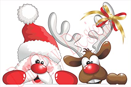 amazon com santa claus and his reindeer picking out christmas and