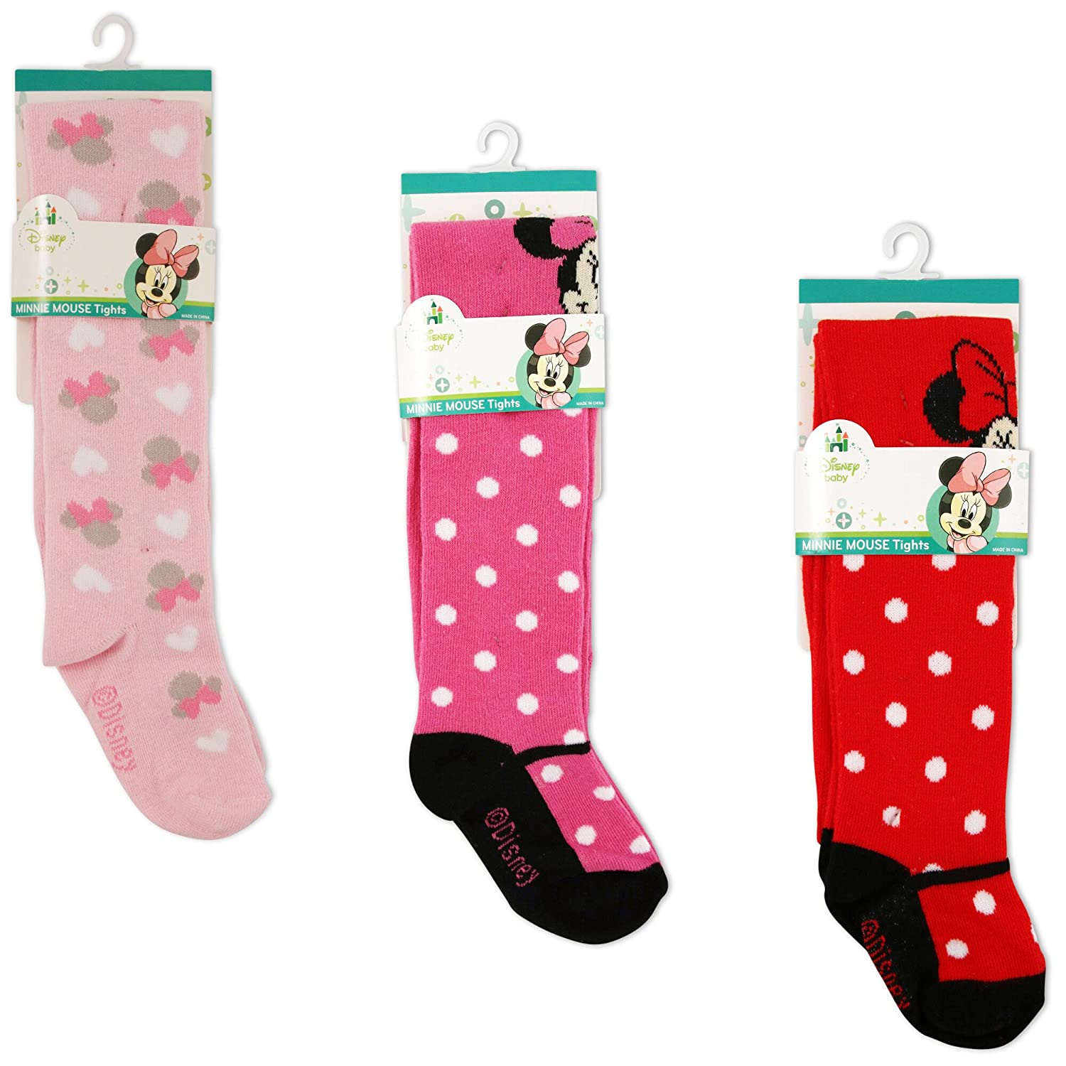 Multi-Color Variety Pack Disney girls Minnie Mouse Polka Dot Tights