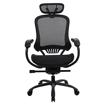 Fantastic Songmics Ergonomic Mesh Office Chair With Headrest And Lumbar Support Adjustable Seat And Backrest Black Obn91Bk 49 49 Home Interior And Landscaping Ologienasavecom