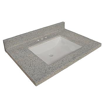 design house wave bowl premium cultured marble vanity top with 4inch backsplash