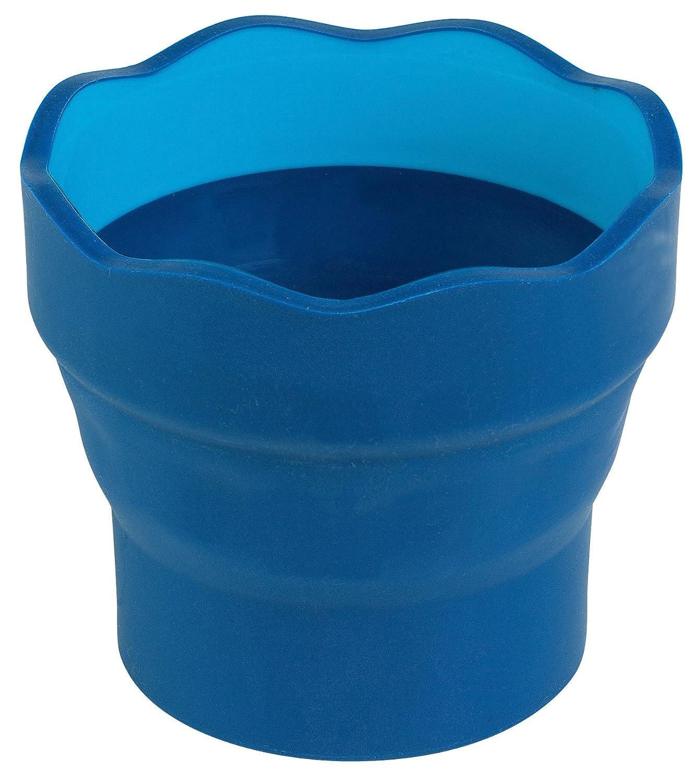Faber-Castell Click & Go - Bicchiere per pennelli, confezione da 2 pezzi, colore: blu 181510-p2