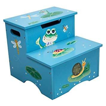 Fantasy Fields - Froggy Thematic Kids Wooden Step Stool with Storage | Imagination Inspiring Hand Crafted  sc 1 st  Amazon.com & Amazon.com: Fantasy Fields - Froggy Thematic Kids Wooden Step ... islam-shia.org