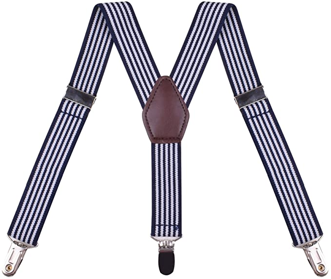 Men's Vintage Style Suspenders  Boys Clip On Suspenders Elastic Adjustable Y Shape BODY STRENTH  $9.99 AT vintagedancer.com