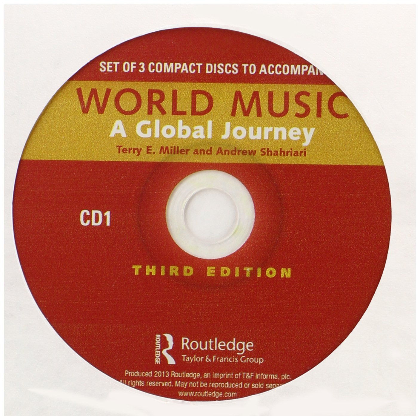 World Music: A Global Journey - Audio CD Only: Terry Miller, Andrew  Shahriari: 9780415894029: Amazon.com: Books