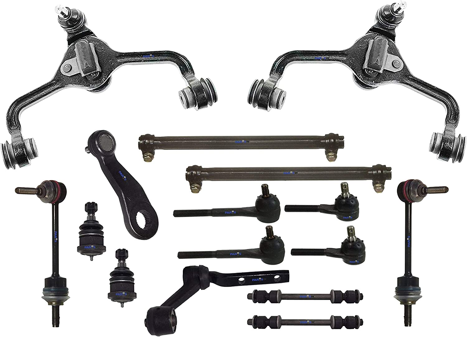 16 Pc Front Suspension Kit Lincoln Towncar Ford Crown Victoria Ball Joints Rods