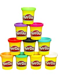 Play-Doh Modeling Compound 10-Pack Case of Colors, Non-Toxic, Assorted Colors, 2-Ounce Cans, Ages 2 and up,