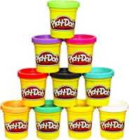 Play-Doh Modeling Compound 10-Pack Case of Colors, Non-Toxic, Assorted Colors, 2-Ounce Cans, Ages 2 and up, (Amazon Exclusive