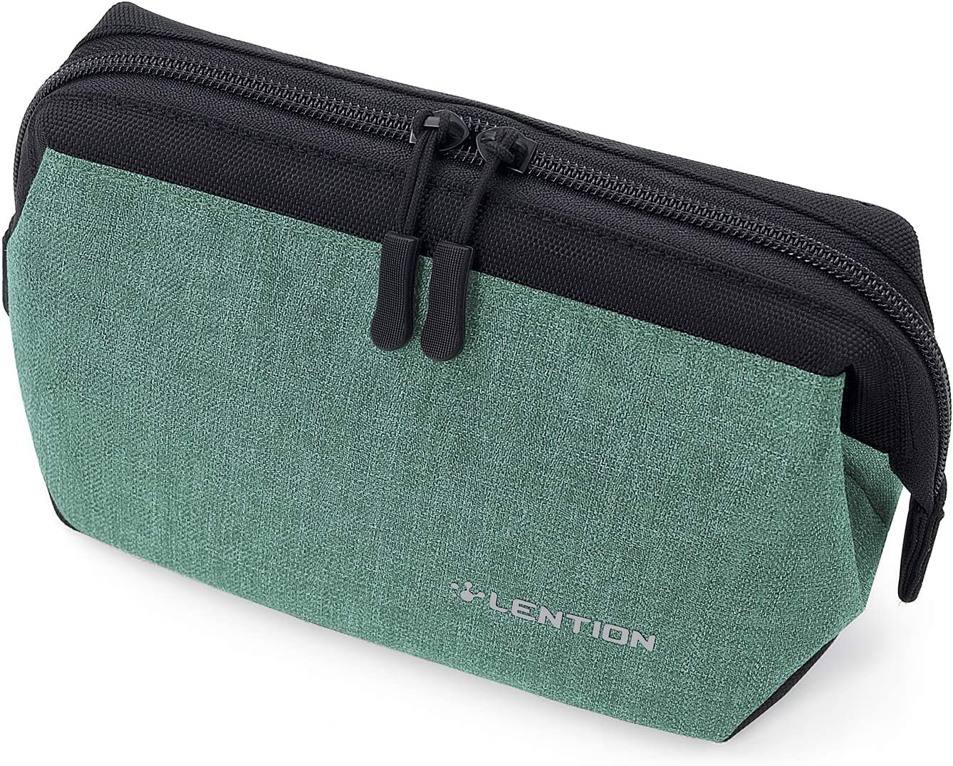 LENTION Compact Carrying Accessories Pouch, Universal Electronic Gadget Sleeve Case for Laptop/Tablet Power Adapter, MacBook Air/Pro Charger, Wireless Mouse, Phone, Pencil and More (Green)