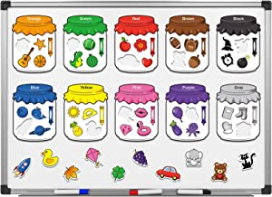 10 Pieces Color Recognition MagneticSorting Set Educational Magnet Color Baby Toddlers Kids Magnets for Refrigerator Whiteboard, Above Ages 3