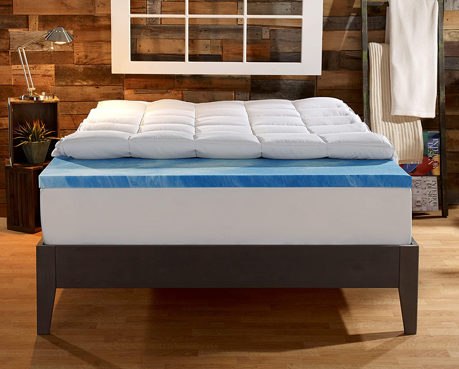 Sleep Innovations Gel Memory Foam 4-inch Dual Layer ...