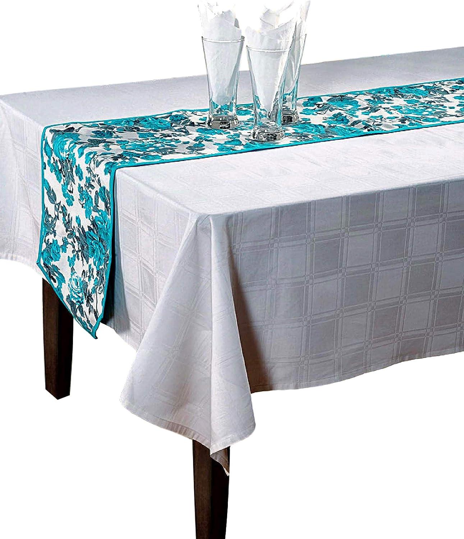 Swayam Indio Floral algodón de Pato – Camino de Mesa 33 cm x 182 ...