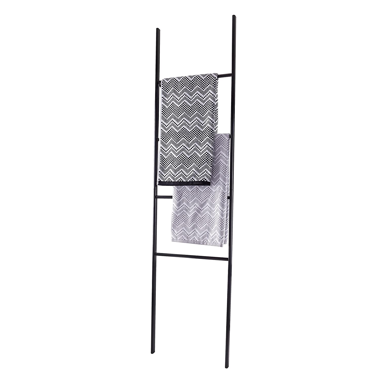 Esbada Metall-Handtuchleiter//Handtuchst/änder//Handtuchhalter Schwarz Rund 49x170x20 cm