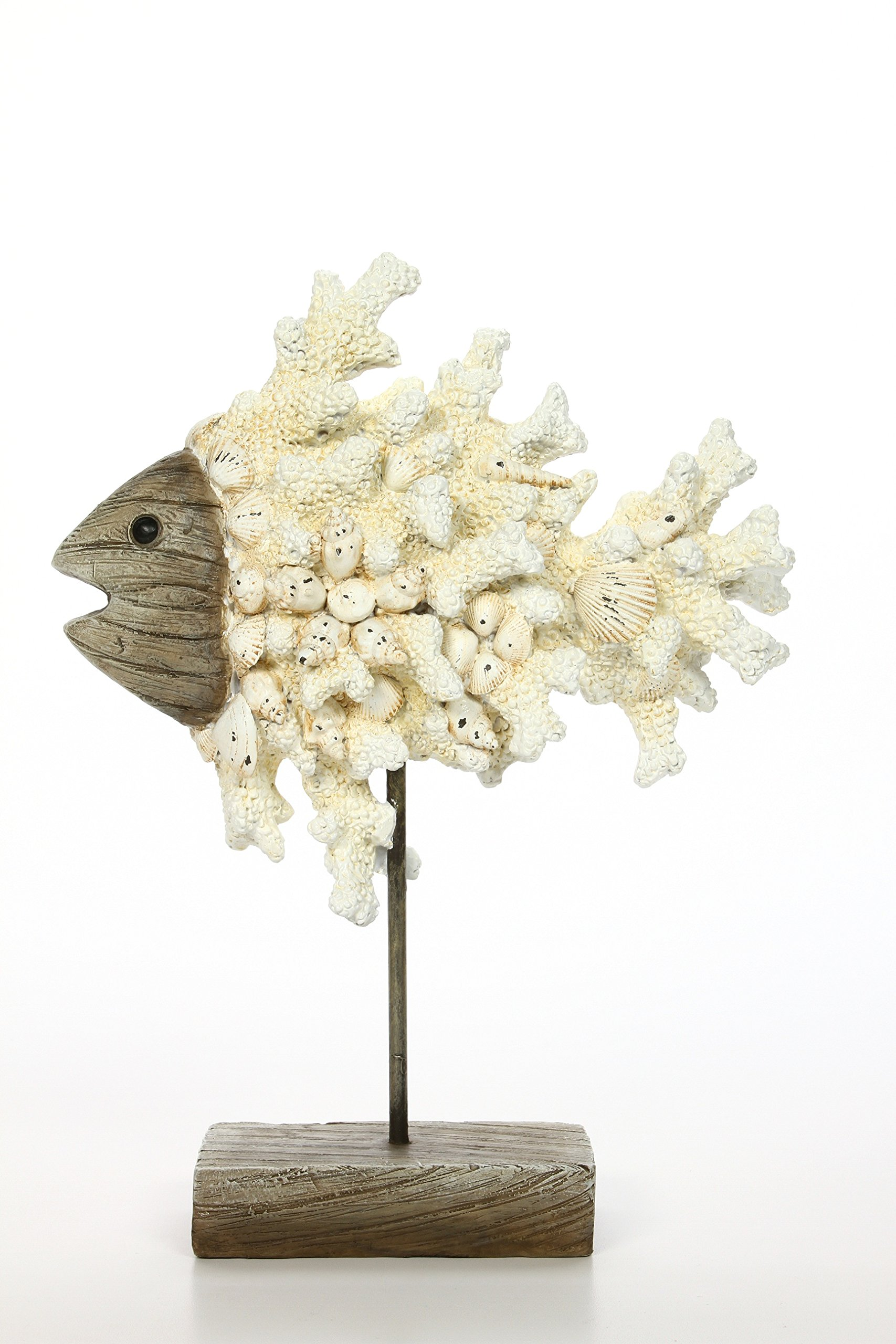 Hosley 12.1'' High, Decorative Tabletop Coral Reef Fish. Ideal Gift for Wedding, Home, Party Favor, Spa, Reiki, Meditation, Bathroom Settings O9