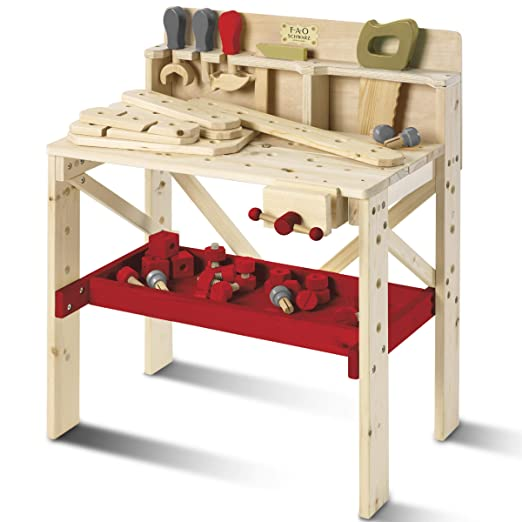 Amazon.com: FAO Schwarz - Banco de trabajo de madera maciza ...