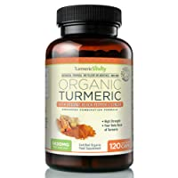 Organic Turmeric Curcumin 710mg High Strength with Black Pepper & Ginger for Maximum Digestion & Absorption of Curcumin | 120 Veg Capsules - Certified Organic Supplement by Turmeric Vitality