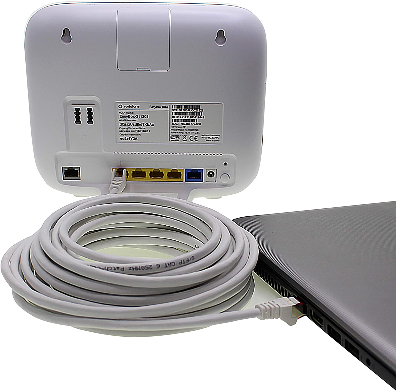 C/âble de r/éseau Cat6 0,15m 5 Couleurs Vari1 Patch Cable LAN Cat 6 LAN Network Cable Sftp Pimf Lszh Copper 1000 Mbit s