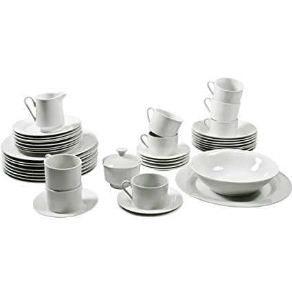 10 Strawberry Street Simply Round 45 Piece Dinnerware Set White  sc 1 st  Amazon.com & Amazon.com | 10 Strawberry Street Simply Round 45 Piece Dinnerware ...