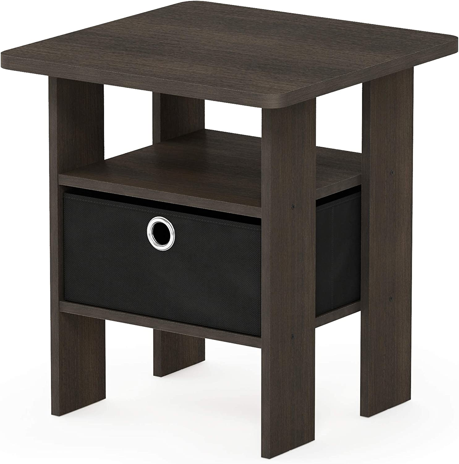 Furinno 11157 End Table Bedroom Night Stand With Bin Drawer Amazon Ca Home Kitchen