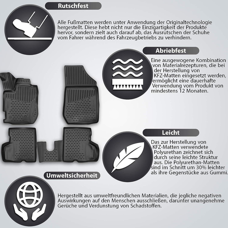Element EXP.NLC.05.17.210n Alfombrillas de Goma Antideslizantes BMW X5 E70 Negro a/ño 07-13