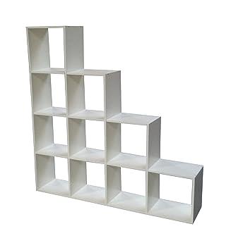Treppenregal Raumteiler Bücherregal Standregal Stufenregal Regal Weiße Eiche
