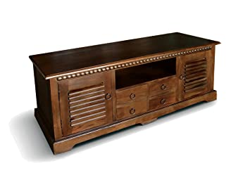 Gentil NES Furniture Nes Fine Handcrafted Furniture Solid Mahogany Wood Indiana TV  Stand / Console Table