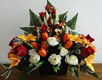 roselynexpress Composition de Fleurs artificielles lesté