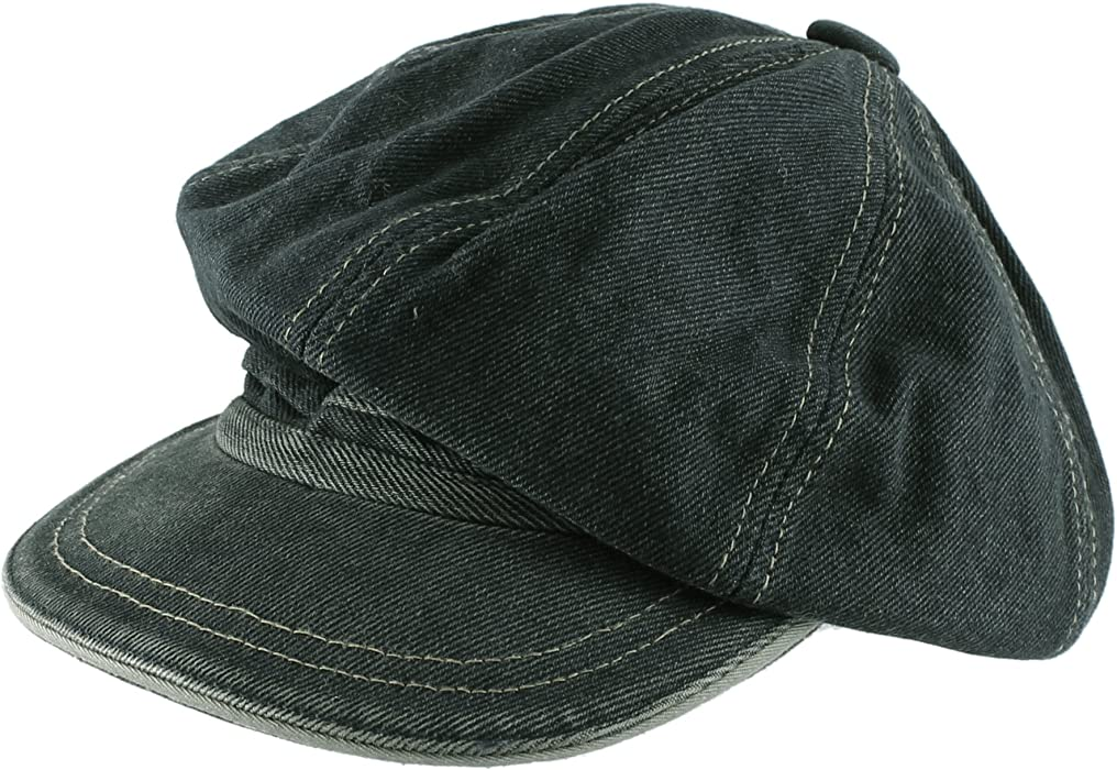 Morehats Men s Women s Unisex Cotton Packable Jean Newsboy Cap Gatsby Hat b9f87889450c