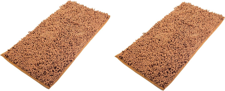 AIREE FAIREE Tappeto Bagno Antiscivolo Tappetino Asciugamani Microfibra a Pelo Lungo Doccia Assorbente Morbida ciniglia 82 X 40 CMS