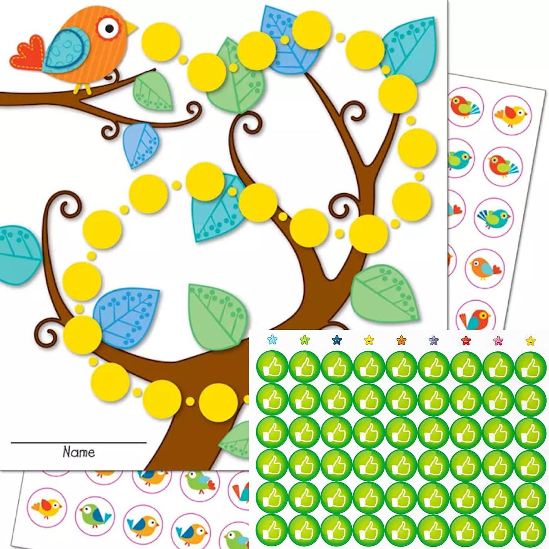 adem/ás 54/Like verde Pegatinas Ni/ños Baby Cuidado /3/Multicolor Recompensa Tarjetas con 90/pegatinas en Juego P/ájaros Orinal Entrenamiento/
