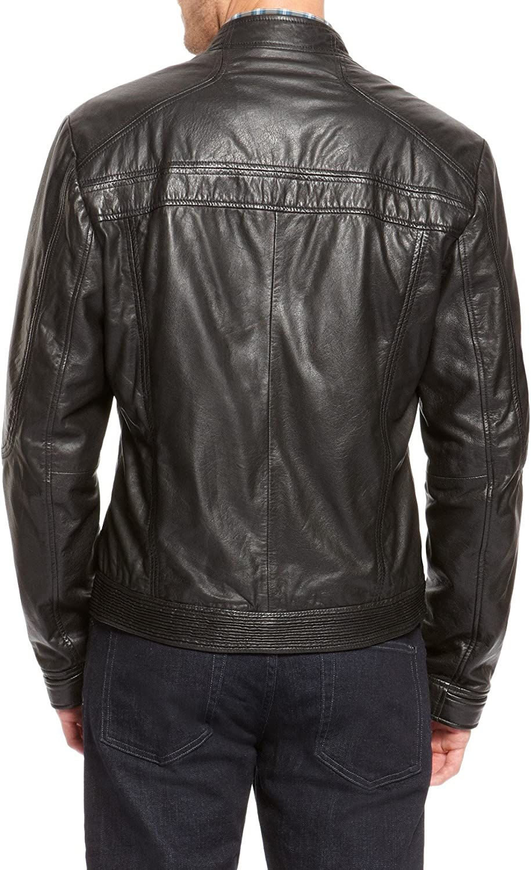 Mens Genuine Lambskin Leather Jacket Slim Fit Biker Motorcycle Jacket T273