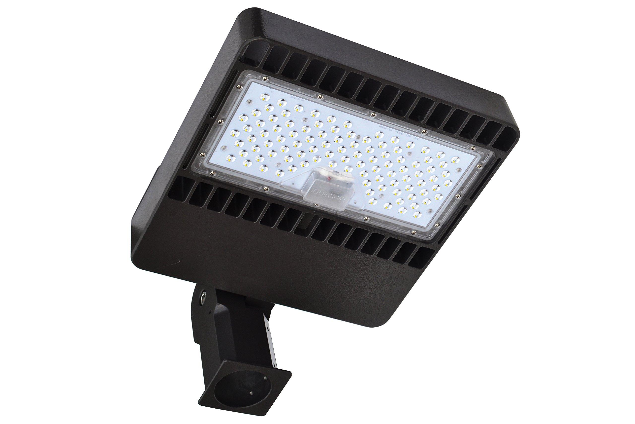150watt LED Parking Lot Lights with Photocell Street Light Dusk to Dawn Outdoor Lighting with Light Sensor Shoebox Pole Lights 5000K Super Bright 16500LM DLC ETL Listed