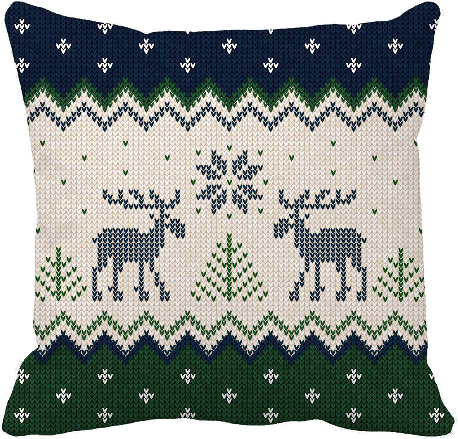 Amazon Com Awowee Throw Pillow Cover Ugly Sweater Merry Christmas And Happy New Year Border 18x18 Inches Pillowcase Home Decorative Square Pillow Case Cushion Cover Home Kitchen