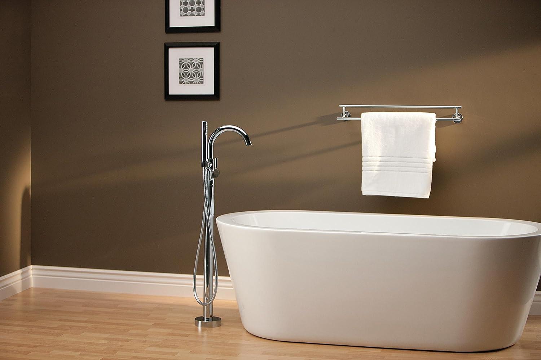 Delta Faucet T4759-FL Trinsic Floor Mount Tub Filler, Chrome - Tub ...