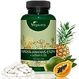 PAPAINA e BROMELINA + Vitamina B6 Vegavero® | SENZA MAGNESIO STEARATO | Estratti Naturali da Papaya e Ananas | Cellulite – Digestione – Drenante - Diuresi | 120 capsule | Vegano