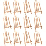 """MEEDEN 16"""" Tall Tabletop Easel - 12PCS Medium Tabletop Display Solid Beech Wood Easel, for Kids Artist Adults Classroom…"""
